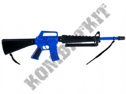R118 Die-Cast Metal 8 Shot Toy Cap Rifle M16 Machine Gun Police Blue